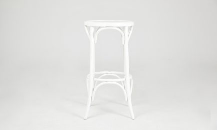 White wooden vintage bar stool by Urvission Interiors price £167