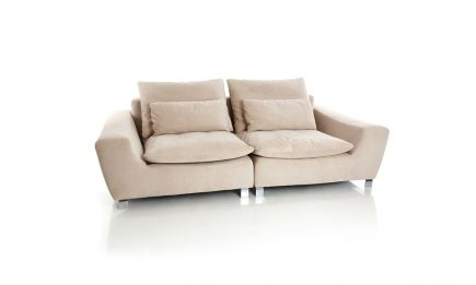 Designer 2 seat sofa with luxury fabric and steel legs size 220/110cm by Urvission Interiors price £1735