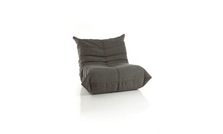 Bespoke grey fabric armchair size 90/102 cm by Urvission Interiors price £1032