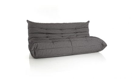 Designer grey fabric sofa size 130/102 cm by Urvission Interiors price £1512
