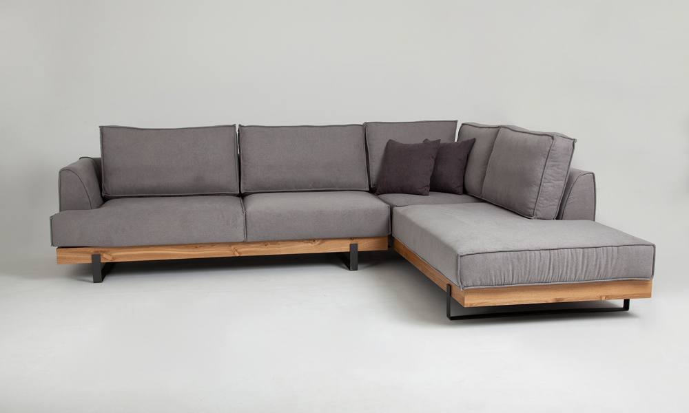 Light Grey Scandinavian Chaise Corner, What Size Is A Corner Sofa