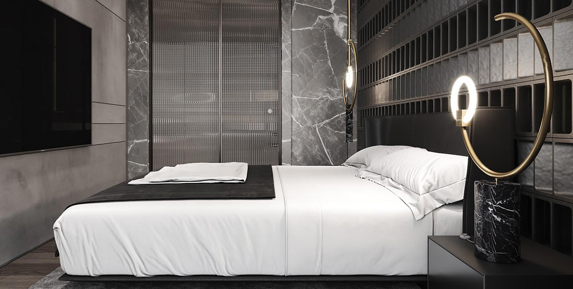 Cosy contemporary bedroom by Urvission Interiors