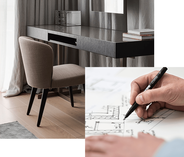Space planning on interior design by Urvission Interiors