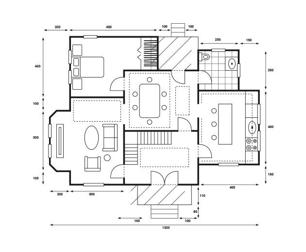 2D floor plan by Urvission Interiors