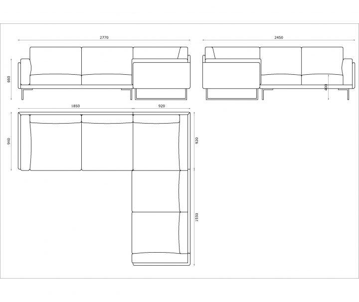 Leather corner sofa size 280/250 cm by Urvission Interiors price £3239