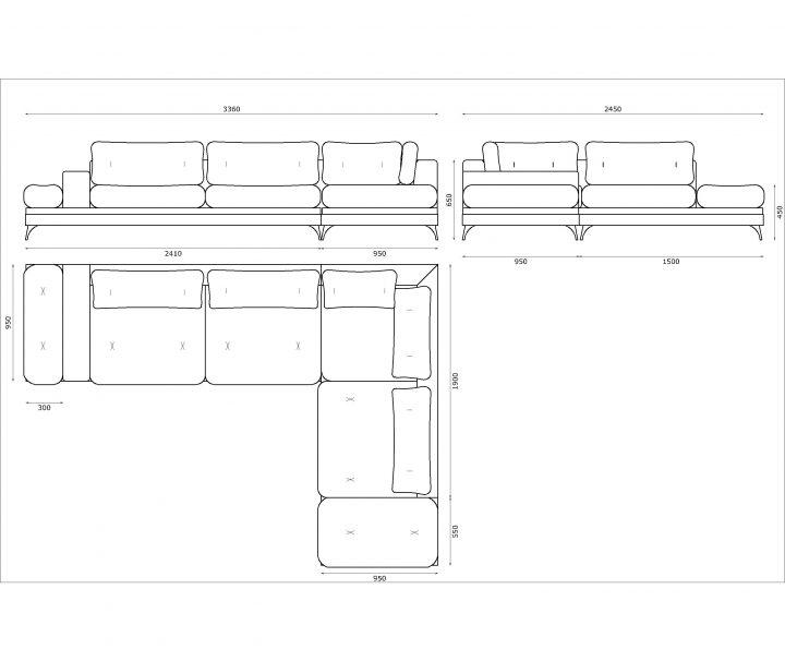 Cosy Cushioned Beige Corner Sofa Riesi, What Size Is A Corner Sofa