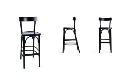 Designer bar stool in black wood bespoke in size 47/47/108 cm by Urvission Interiors price £159