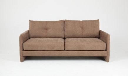 3 seat brown sofa with decorative elements in size 180/95 cm by Urvission Interiors price £1325