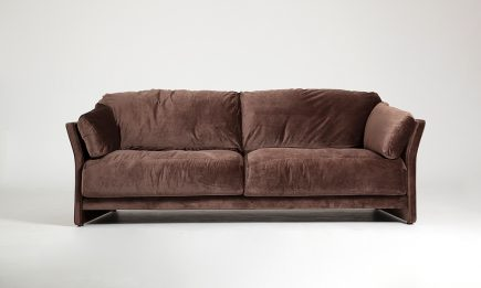 Modern 2 seat sofa with brown fabric and feathers filling in size 180/80 cm by Urvission Interiors price £2080