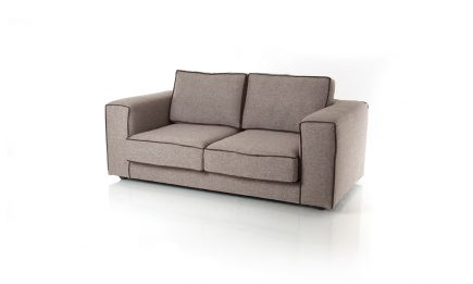 2 seat sofa in beige fabric with classical design and feathers filling size 182/95 cm by Urvission Interiors price £1338