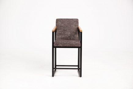 Designer brown fabric bar stool size 50/55/95 cm by Urvission Interiors price £429