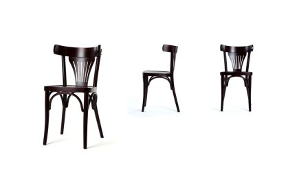 Rustic dining chair in a dark brown wood bespoke by Urvission Interiors price £155