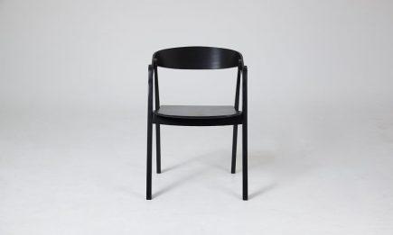 Scandinavian Black Wood Dinning Chair Danetti by Urvission Interiors price £ 174