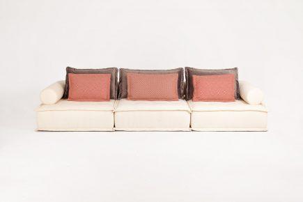 3 seater Light Cream Modern Modular Sofa Comfy Urvission Interiors Price £2701