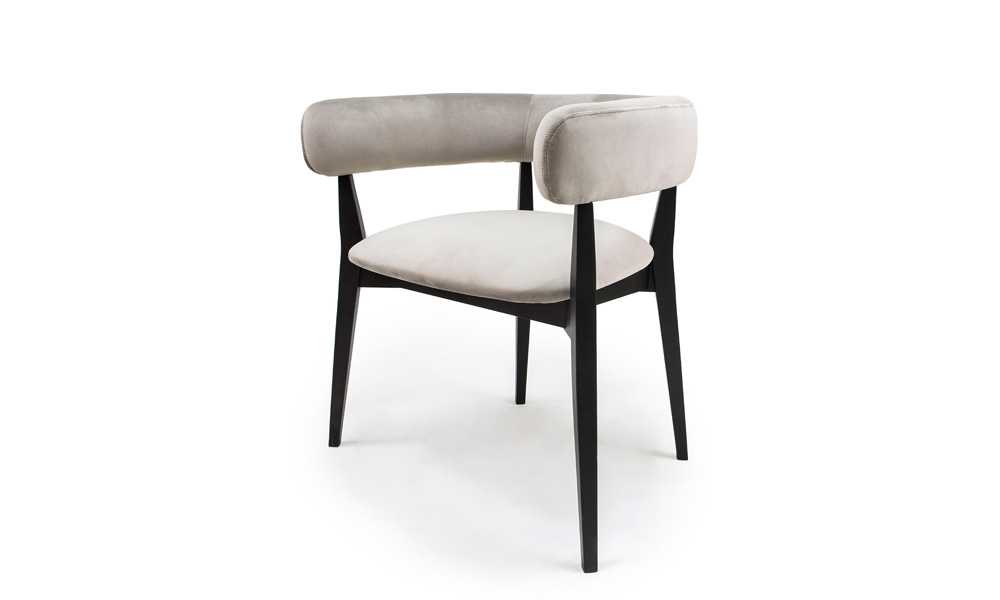 Cosy_brown_wooden_beige_upholstered_armrest_dining_chair_Throne_Urvission_Interiors_Price_£235