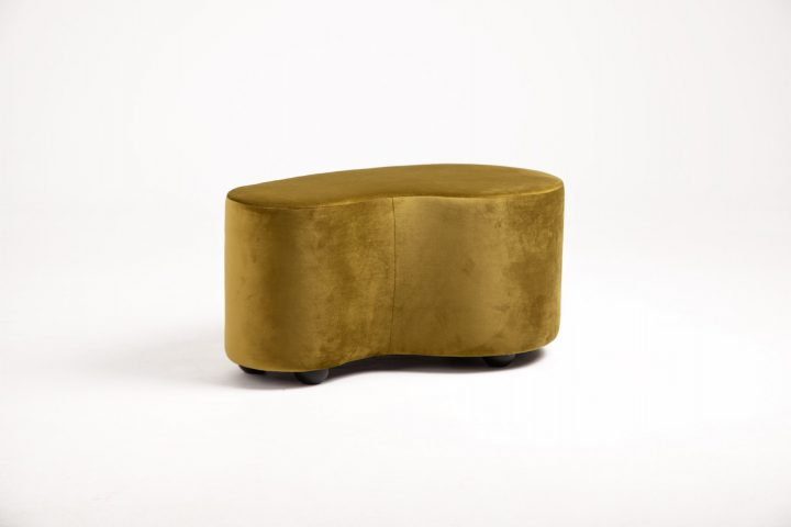 Contemporary_moss_green_and_burnt_orange_cosy_poufs_London_Urvission_Interiors_price_£577