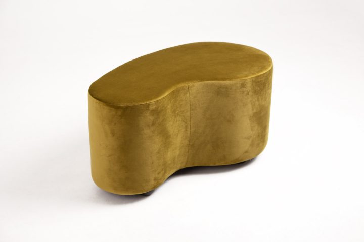 Lovely_moss_green_and_burnt_orange_cosy_poufs_London_Urvission_Interiors_price_£577