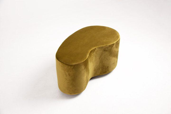 Designer_moss_green_and_burnt_orange_cosy_poufs_London_Urvission_Interiors_price_£577
