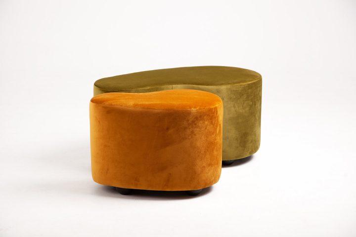 Bespoke_moss_green_and_burnt_orange_cosy_poufs_London_Urvission_Interiors_price_£577