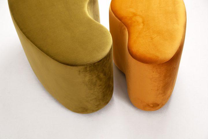 Modern_moss_green_and_burnt_orange_cosy_poufs_London_Urvission_Interiors_price_£577