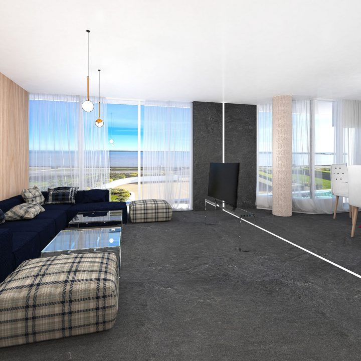 Urban open plan apartment in Sand Banks, Poole
