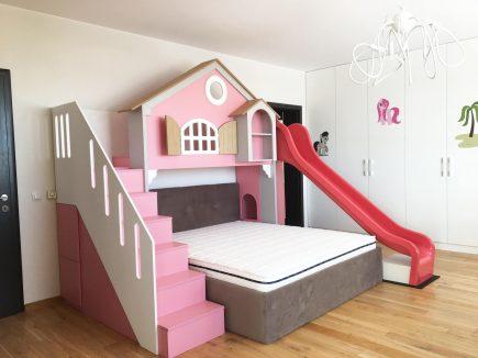 Modern girl bespoke fitted bedroom - Pink House