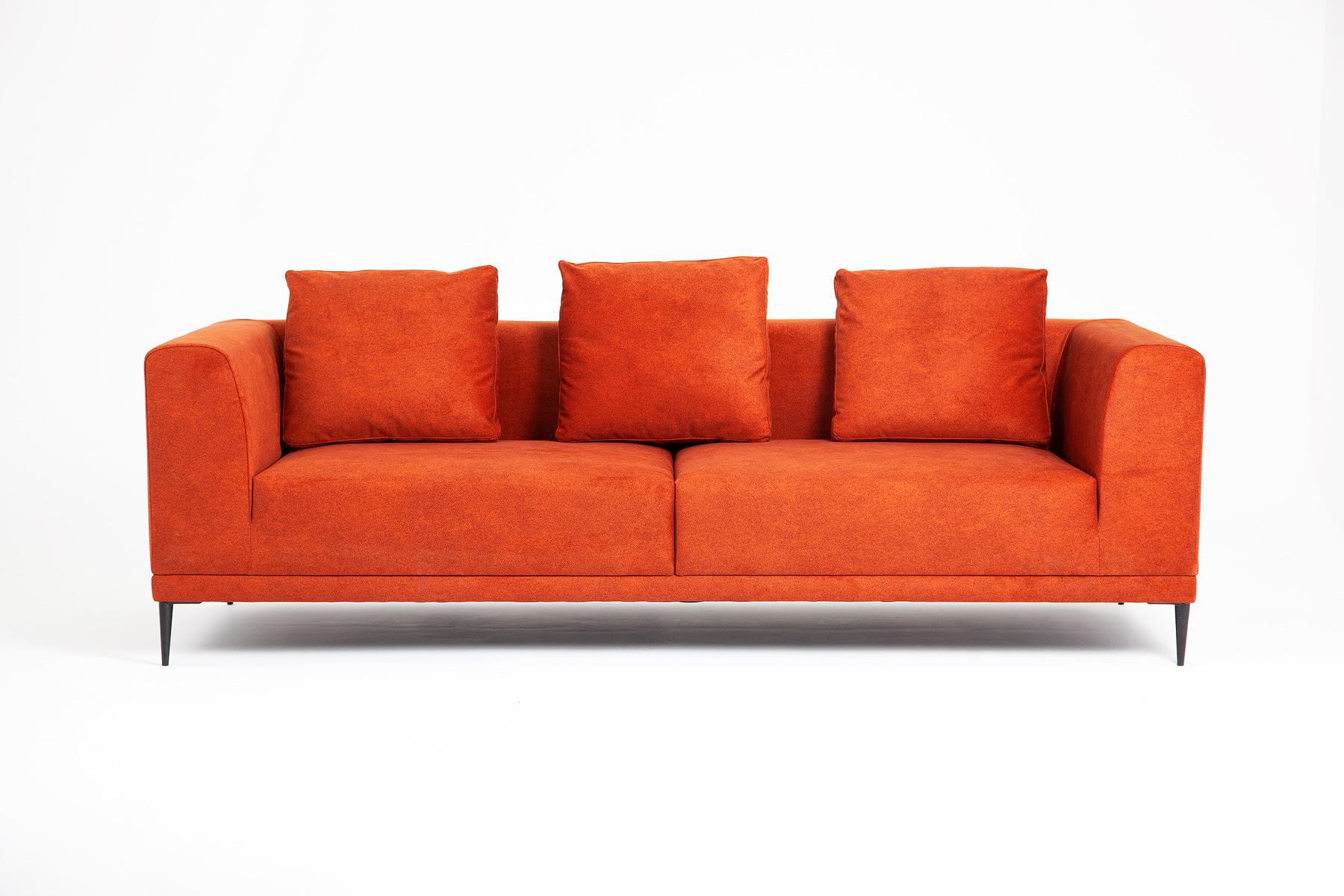 Bespoke_orange_fabric_3_seater_sofa_Davenport_Urvission_Interiors