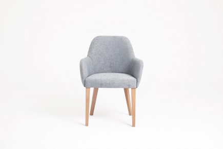 Comfortable_light_grey_upholstered_wooden_dining _chair_Rumble_Urvission_Interiors