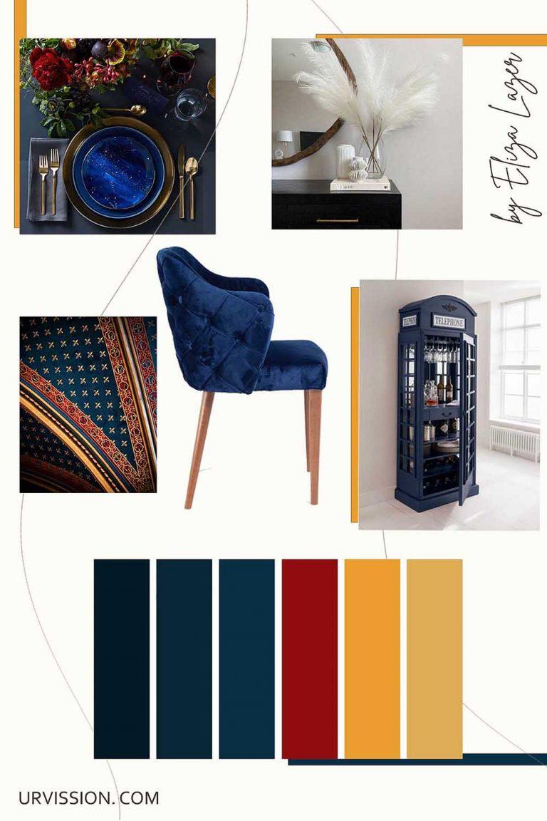 Velvet_navy_blue_dining_chair_King_Urvission_Interiors